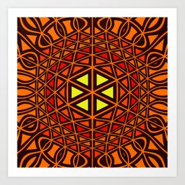 Geometric abstact art Art Print