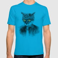 Biker Cat 2X-LARGE Teal Mens Fitted Tee