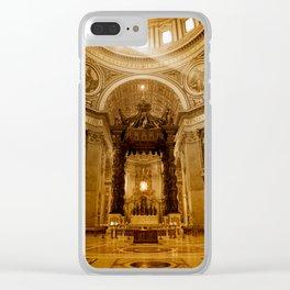 St. Peter's Basilica in Rome Clear iPhone Case