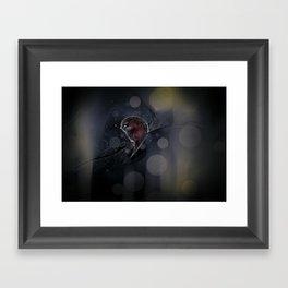 the moon asked Framed Art Print