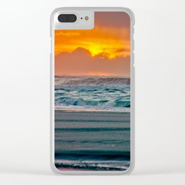 Ocean Sunset - Pacific Coast Highway 101 Clear iPhone Case