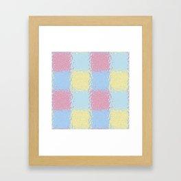 Pastel Jiggly Tile Pattern Framed Art Print