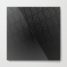 Optical illusion - Impossible Figure - Balck & White Pattern Metal Print