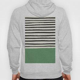 Moss Green x Stripes Hoody