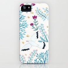 white birds garden Slim Case iPhone (5, 5s)