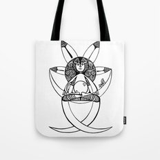 in post-meditation, be a child of illusion Tote Bag
