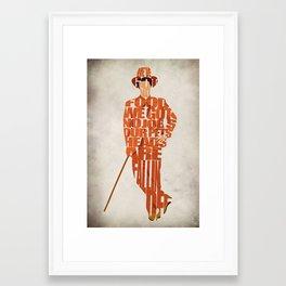 Lloyd Christmas Framed Art Print