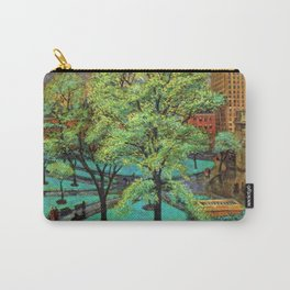 """Classical Masterpiece 'Spring, Washington Square, NYC"""" by John French Sloan Carry-All Pouch"""