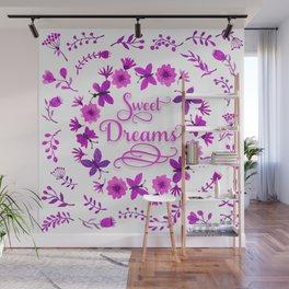 Sweet Dreams - Purple Pink Wall Mural