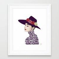 audrey hepburn Framed Art Prints featuring Audrey Hepburn by Kenneth J. Franklin
