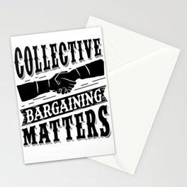 Collective Bargaining Pro Labor Union Worker Protest Light Stationery Cards