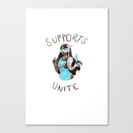 Supports unite! Symmetra Canvas Print