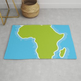 map of Africa Continent and blue Ocean. Vector illustration Rug