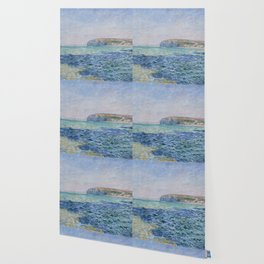 Shadows on the Sea at Pourville by Claude Monet Wallpaper