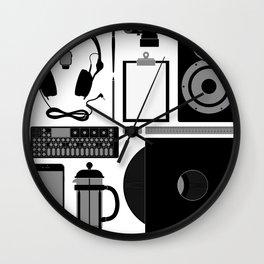 Studio Objects Vector Illustration Wall Clock