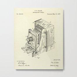 Photographic Camera-1887 Metal Print
