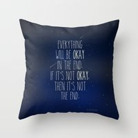 fault in our stars Throw Pillows featuring The Fault In Our Stars by Adel