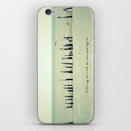 A Fish May Love a Bird... iPhone & iPod Skin