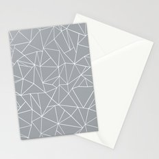 Abstraction Outline Grey Stationery Cards