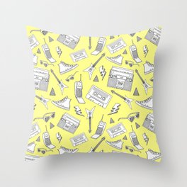 Livin in the 90s // Retro Yellow Throw Pillow