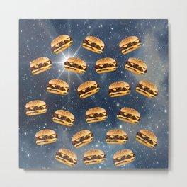 Space Burger Metal Print