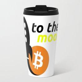 Bitcoin to the moon ! Travel Mug