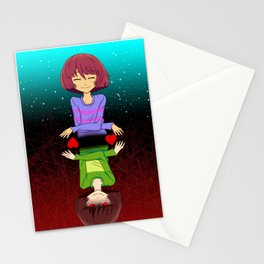 Undertale mercy or fight Stationery Cards