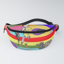 A dog and a woman {$M} Fanny Pack
