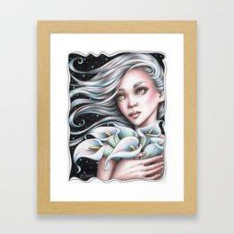 Calla Lily Fairy Framed Art Print