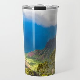Kalalau lookout in Koke'e State Park - Kauai, Hawaii Travel Mug