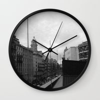 barcelona Wall Clocks featuring Barcelona. by Michaëlis Moshe