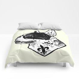 French Bulldog Tattooed Dog Comforters