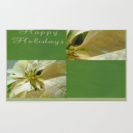 Pale Yellow Poinsettia 1 Happy Holidays Q5F1 Rug