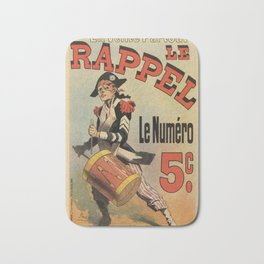 Vintage French revolutionary newspaper ad Bath Mat