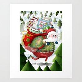 Christmas holiday Art Print