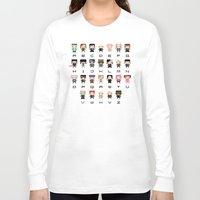 harry potter Long Sleeve T-shirts featuring Harry Potter Alphabet by PixelPower