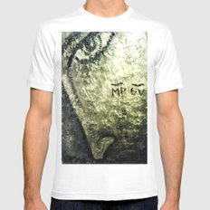 THEOTOKOS IN GOLD MEDIUM Mens Fitted Tee White
