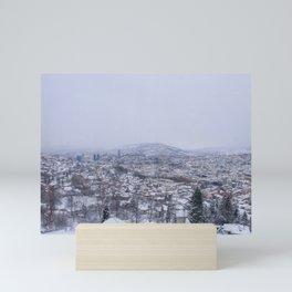 Picture of Sarajevo from the Sarajevo cable car Mini Art Print