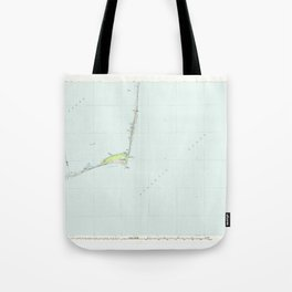 NC Cape Hatteras 162009 1985 topographic map Tote Bag