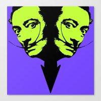 salvador dali Canvas Prints featuring Salvador Dali by Blake Lee Ferguson