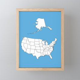 United States of America Framed Mini Art Print