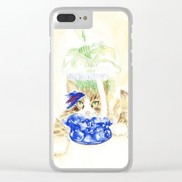 Beta Fish and Cat Clear iPhone Case