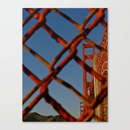Security Comes First - Golden Gate Bridge Canvas Print