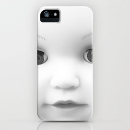 Whiteout: Doll face iPhone Case