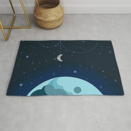 Moon and Planet Rug