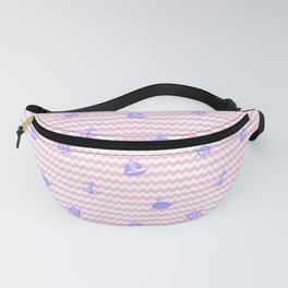 Nautical Purple Lavender Silhouette Pink Chevron Fanny Pack