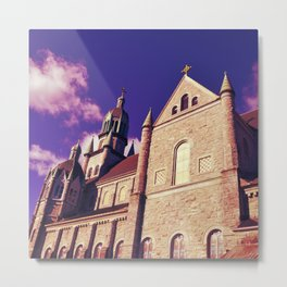 St. Mary & Archangel Michael Church in Violet Metal Print
