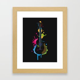 Graffiti guitar Framed Art Print