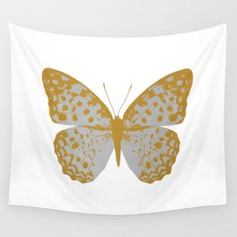 Silver Butterfly Wall Tapestry
