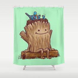 Good Day Log's Bird Nest Shower Curtain